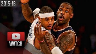LeBron James vs Carmelo Anthony EPIC Duel Highlights (2015.11.13) Knicks vs Cavaliers - MUST Watch!