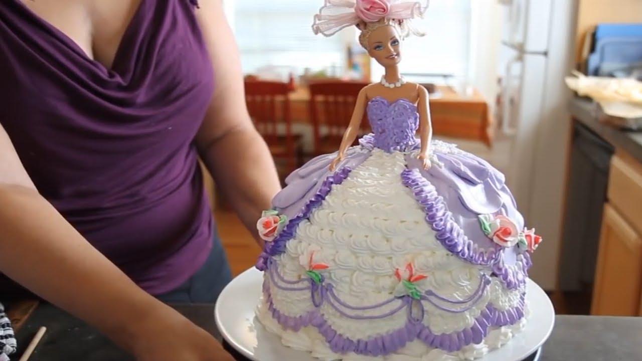 Barbie Doll Cake How To Decorate A Barbie Doll Princess