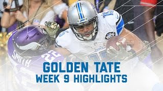 Golden Tate Torches the Vikings with Game-Ending TD! | NFL Wk 9 Player Highlights