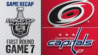 Hurricanes rally, top Capitals in 2OT in Game 7