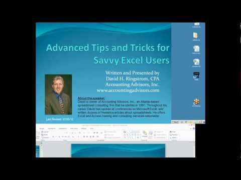 Advanced Tips and Techniques for the Savvy Excel User