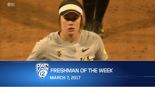 Oregon softball's Miranda Elish named Pac-12 Freshman of the Week