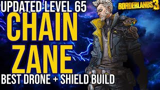 Updated Level 65 Drone/Shield Zane Build! Solo All Content + Gamesave // Chain Zane // Borderlands 3