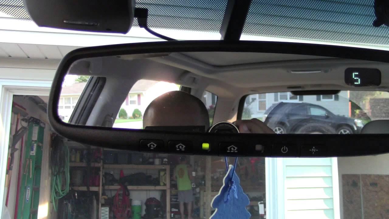 How To Setup Subaru Homelink Rear View Mirror Garage Door