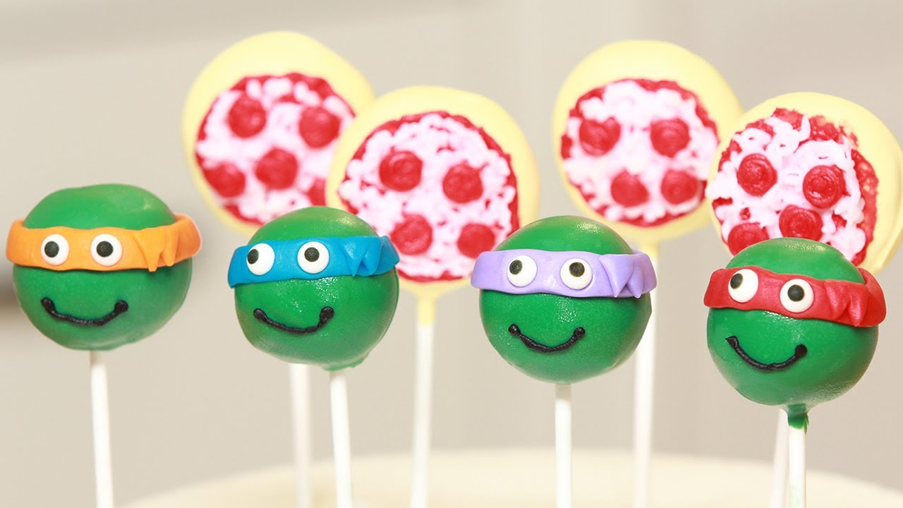 Teenage Mutant Ninja Turtles Cake Pops Nerdy Nummies