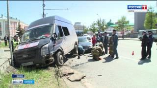 Сегодня в центре Омска произошла крупная авария