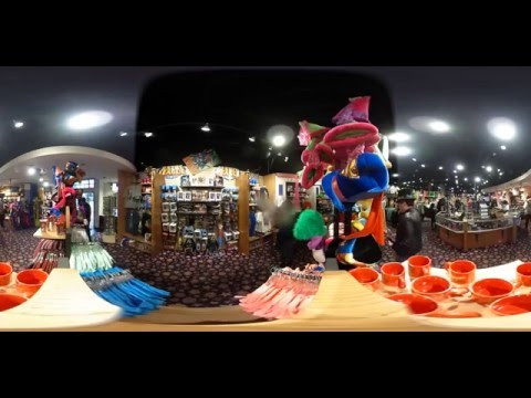 People Aren't Wearing Enough Silly Hats Six Flags Store 360 video
