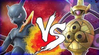Pokken Tournament DX Aegislash Vs Shadow MEWTWO!