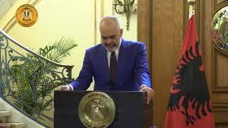 مؤتمر صحفى مشترك بين رئيس الوزراء ونظيره الألبانى