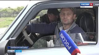 На разбитом участке трассы Шербакуль-Солнцево приступили к строительным работам