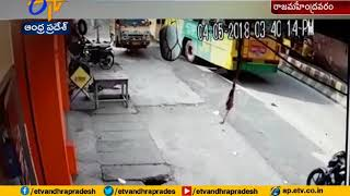 On Cam: RTC Bus Drags Man in Rajahmundry..