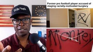 Former NFL Player Allegedly Stages FAKE HATE CRIME In Atlanta!