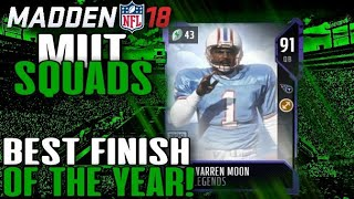 CRAZIEST FINISH OF THE YEAR!! - Madden 18 MUT Squads