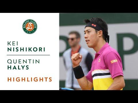 Kei Nishikori vs Quentin Halys - Round 1 Highlights | Roland-Garros 2019