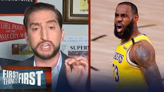 Nick Wright predicts Lakers to win in 5 after taking Blazers in Game 2 | NBA | FIRST THINGS FIRST