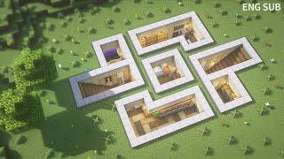 Minecraft: How To Build an Underground Base Tutorial (#16) | 마인크래프트 건축, 지하 생존 기지, 인테리어