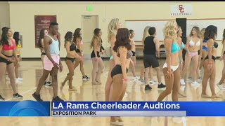 LA Rams Hold Auditions For Cheerleaders