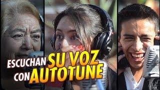 Escuchan su VOZ por Primera vez con AUTOTUNE y así Reaccionan | Cantas Bien o Mal | 100 % Real