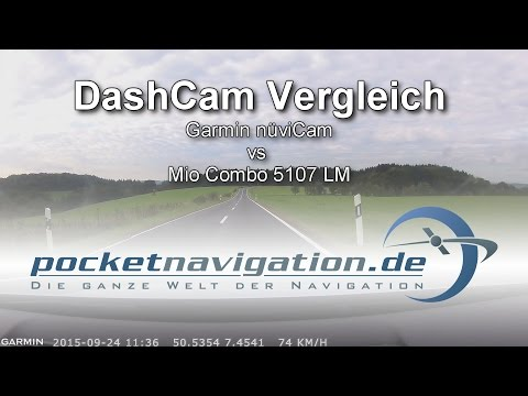 Top Navi Test Dashcam-Vergleich: Garmin nüviCam vs. Mio Combo 5107 LM