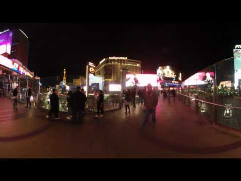 4K 3D 360 Sample Video Street Night 1 @insta360 PRO