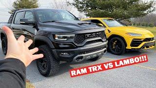 RACING MY NEW 702HP RAM TRX Against a LAMBORGHINI!!! *YOU WON'T BELIEVE THIS!*