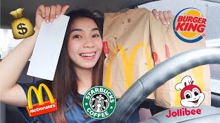 Letting the Person In FRONT of Me DECIDE What I Eat for 24 Hours! | Vanessa Ricohermoso