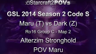 SC2 HotS - GSL 2014 S2 Code S - Maru vs Dark - Ro16 Group C - Map 2 - Alterzim - Maru