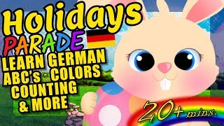 Easter Holiday Kids Video - German ABC's, Colors, Counting and More!