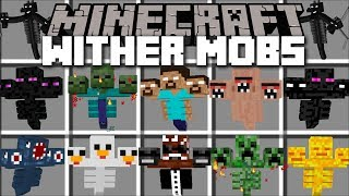 Minecraft WITHER MOBS MOD / SAVE THE VILLAGERS FROM THEIR ATTACK!! Minecraft