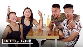 Best Friends Go on a Double Blind Date | Truth or Drink | Cut