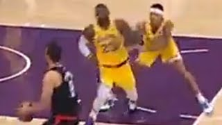 Kyle Kuzma SHOVES LeBron James In Lakers EMBARRASSING Loss To Clippers!