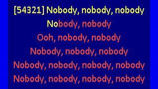 mitski  -  nobody (karaoke)