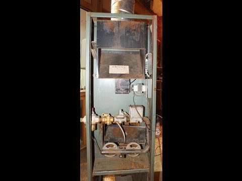antique gas furnace youtube. Black Bedroom Furniture Sets. Home Design Ideas
