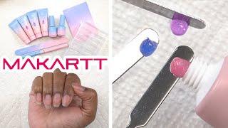 Trying Makartt Glitter Jelly Polygel Kit