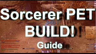 ESO- Sorcerer PET BUILD! Crazy Burst! Guide on Pet 1vX'ing/Bolterity
