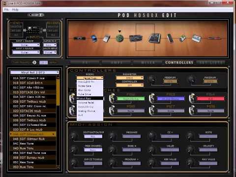 Exemple Patches HD500X DT25 (D Gilmour ) Line 6