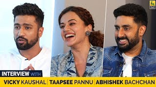 Interview With Abhishek Bachchan, Taapsee Pannu & Vicky Kaushal | Manmarziyaan | Anupama Chopra