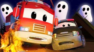 Car Patrol - हेलोवीन की डरावनी कहानियां  - Car city 🚗Cartoon in Hindi - Truck Cartoons for Kids