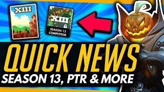 Overwatch | SEASON 13, REAPER PTR + 4v4 DM COMP [Quick News]