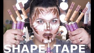 FULL FACE USING SHAPE TAPE CONCEALER!!!!