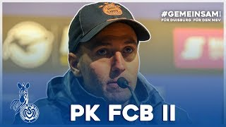 """""""Zum Schluss wurde es ein Krimi""""   PK nach Bayern II   #MSVFCB - ZebraTV   08.12.2019"""