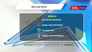 FLC Thanh Hoá xuống chơi tại AFC Cup
