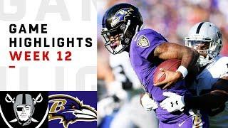Raiders vs. Ravens Week 12 Highlights | NFL 2018