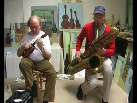 Happy Feet - duet for bass saxophone & ukulele