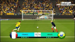 PES 2018 | goalkeeper K MBAPPE vs goalkeeper NEYMAR JR