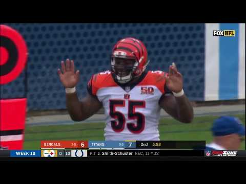 Vontaze Burfict Ejected for Late Hit & Making Contact w/ Ref   Bengals vs. Titans   NFL Wk 10