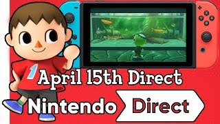 Animal Crossing Switch Direct on April 15th!?