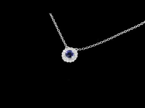 Browns Family Jewellers Diamond And Sapphire Pendant