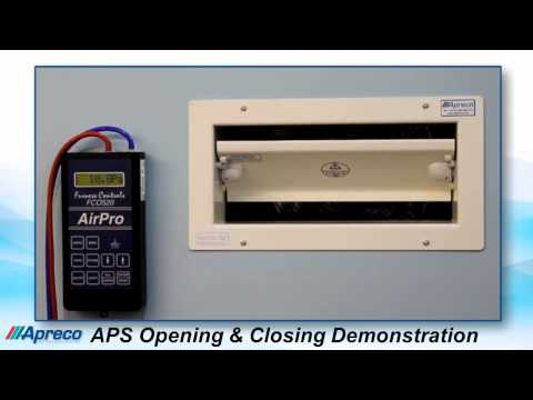Apreco Air Pressure Stabiliser Opening and Closing