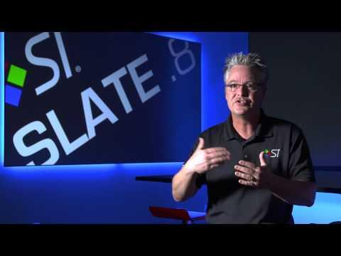 Slate .8 - Black Projection Screen